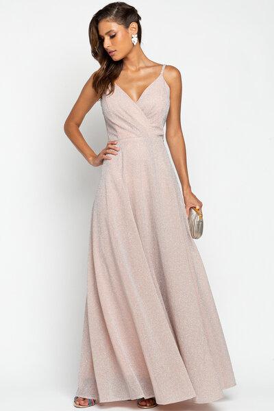 Vestido longo giovana lurex