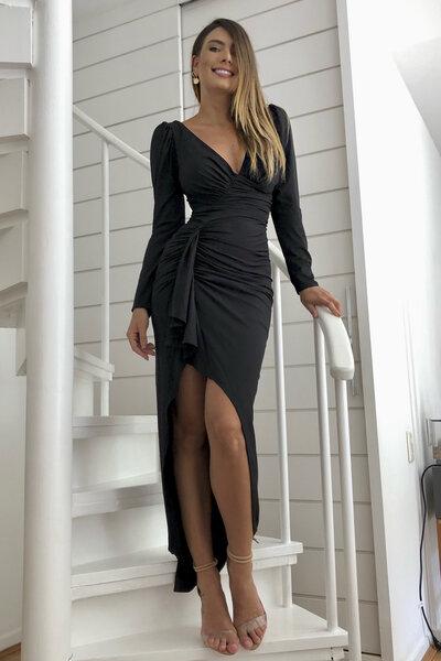 Vestido longo sirena