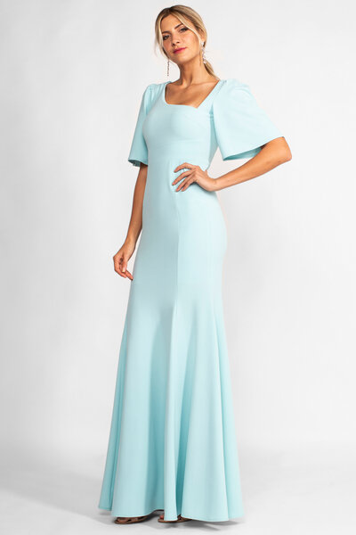 Vestido longo jade
