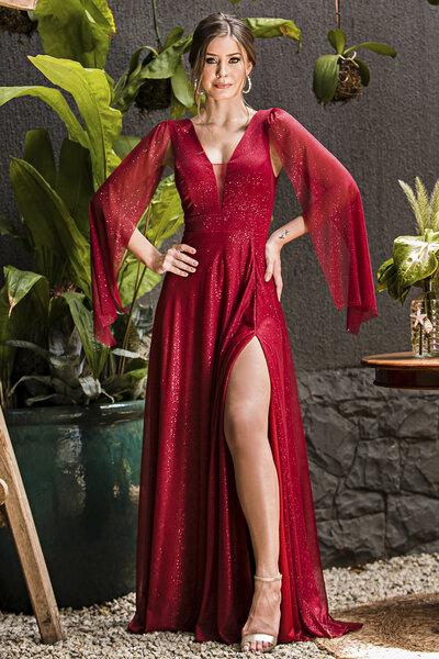 Vestido longo shine
