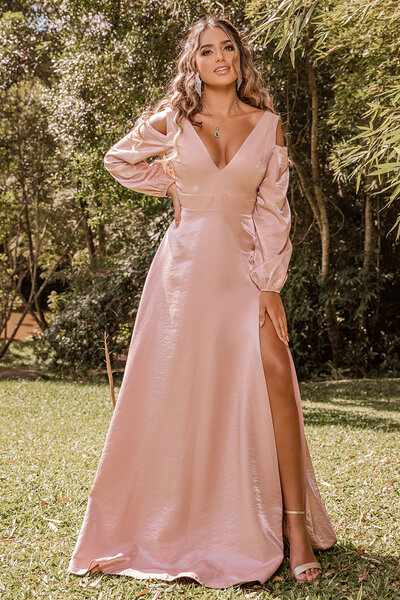 Vestido longo Jaune