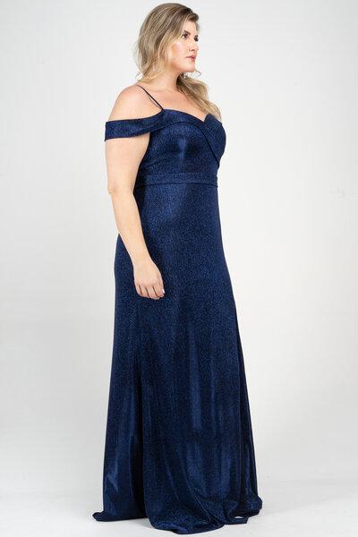 Vestido longo blake lurex