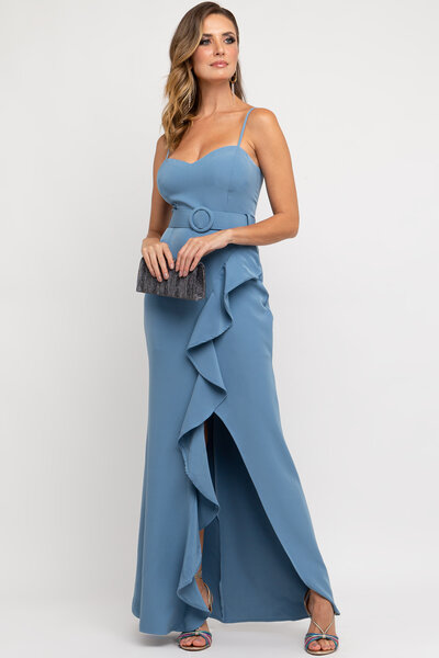 Vestido longo rayane