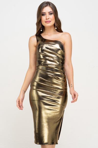 Vestido midi robin foil