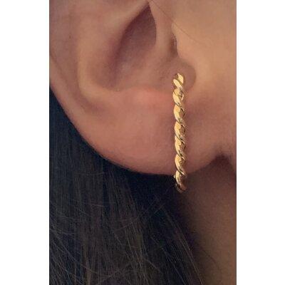 Ear Hook trançado ouro