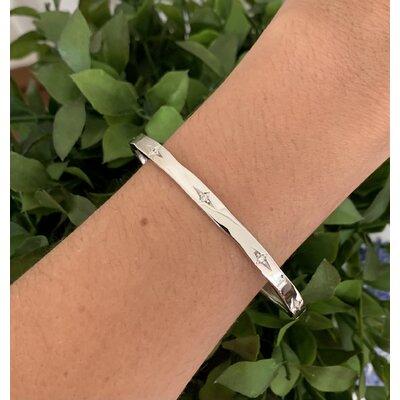 Bracelete Ponto de luz ródio