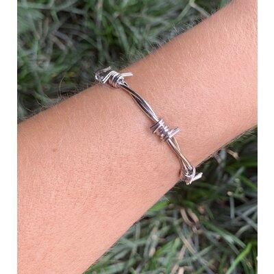 Bracelete Arame Farpado ródio