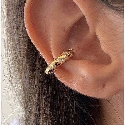 Piercing tubo ouro com zirconias