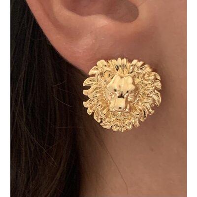 Brinco Leão ouro