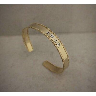 Bracelete Letras Lisas