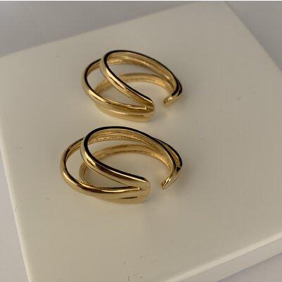 Ear Hook fake ouro
