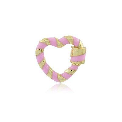 Coração Locker rosa