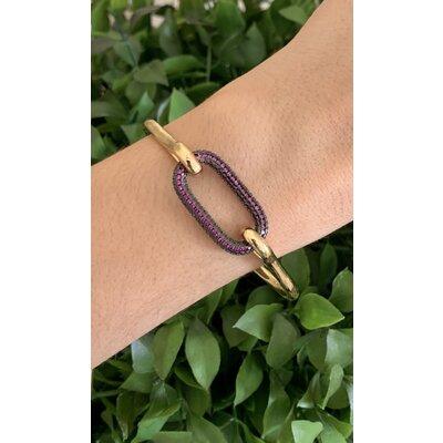 Bracelete Mosquetão Rosa