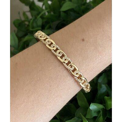Bracelete Elos cravejado ouro