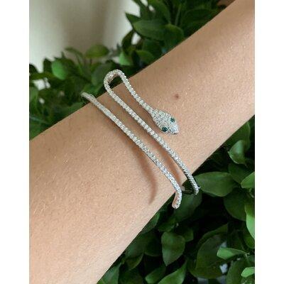 Bracelete Cobra prata 925