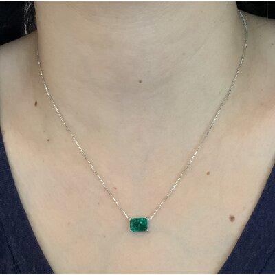 Colar Jade verde esmeralda