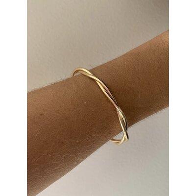 Bracelete entrelaçado ouro