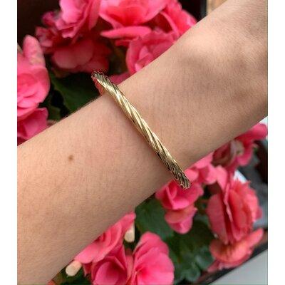 Bracelete torcido ouro