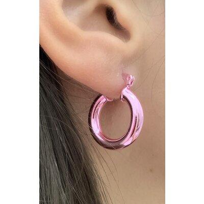 Argola tubo rosa M