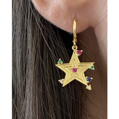 Argolinha Star pontos coloridos