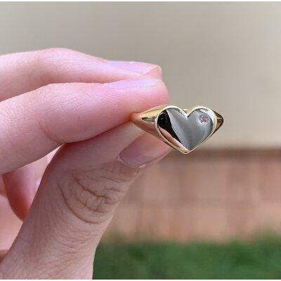 Anel Coração dedinho ouro