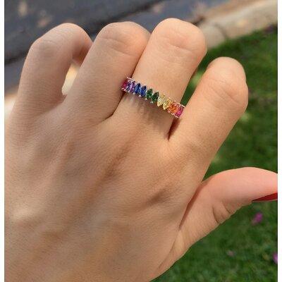Anel Navete Rainbow