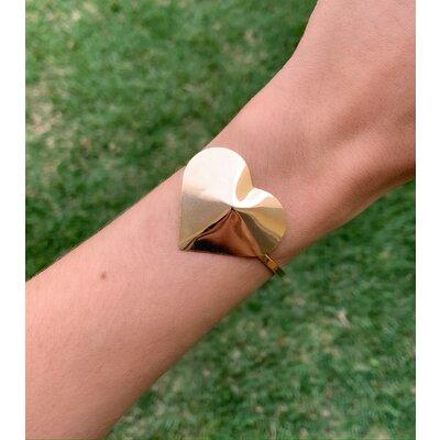 Bracelete Coração Big ouro