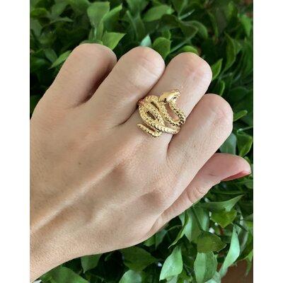 Anel Cobra ouro
