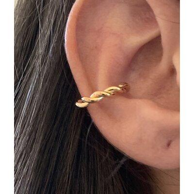 Piercing trançado ouro