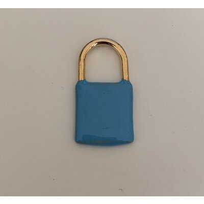 Cadeado Azul ouro