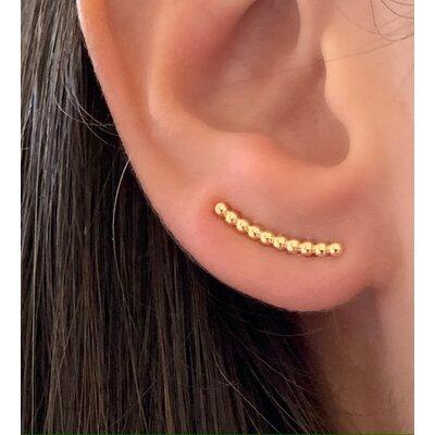 Ear cuff mini bolinha