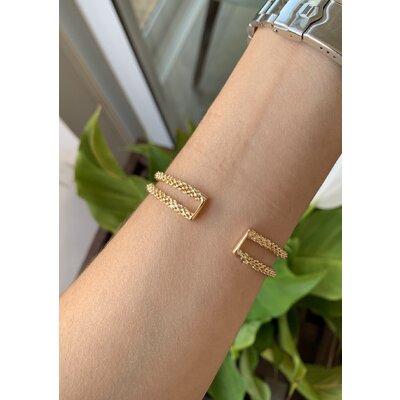 Bracelete duplo ouro