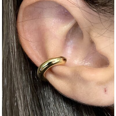 Piercing tubo ouro