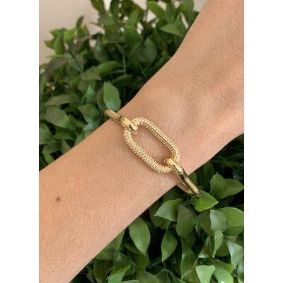 Bracelete Mosquetão dourado