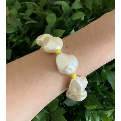 Pulseira Perola Bijoux amarela