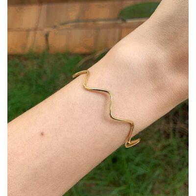 Bracelete Zig Zag ouro