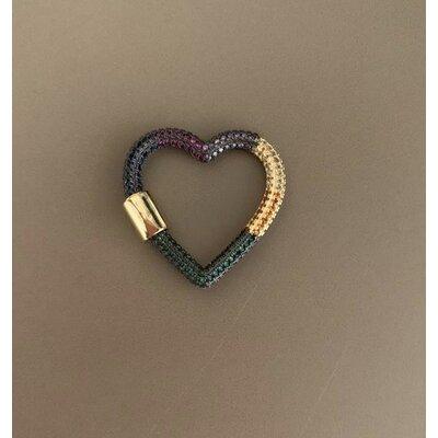 Coração Mosquetão colorido