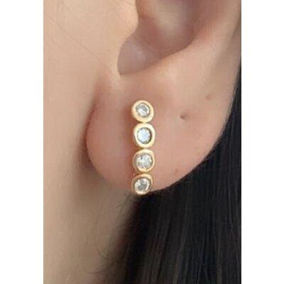 Ear Hook mini ponto de luz ouro