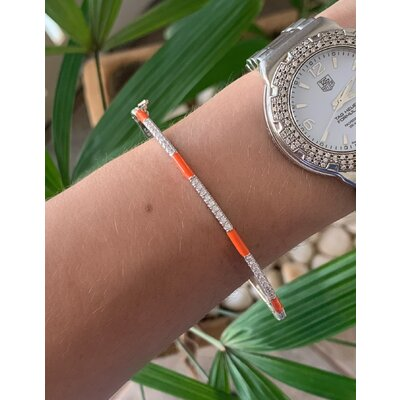 Bracelete Prata laranja