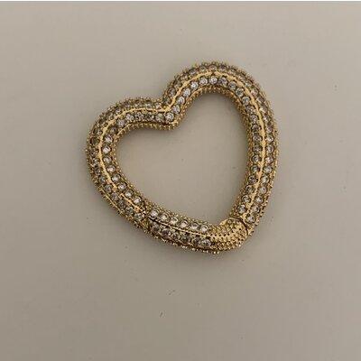 Coração cravejado ouro