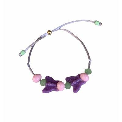 Pulseira Borboleta petit lilás