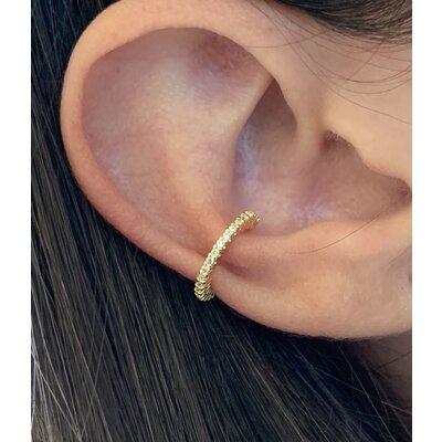Piercing Fino cravejado ouro