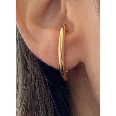 Ear Hook Simple ouro com pino