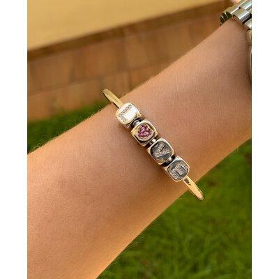 Bracelete LOVE ródio