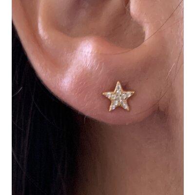 Brinco Estrela média ouro