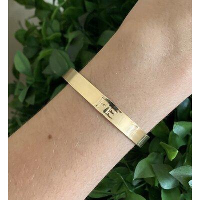 Bracelete Fé ouro