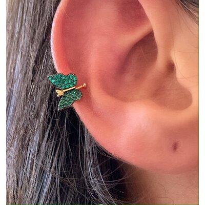 Piercing Borboleta verde