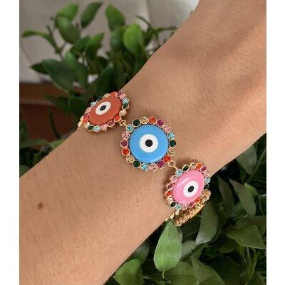 Pulseira Olho grego colorido rainbow