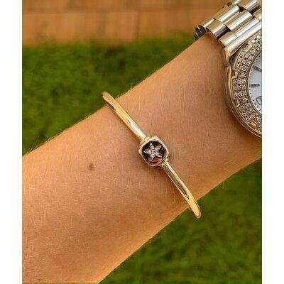 Bracelete Estrela ródio