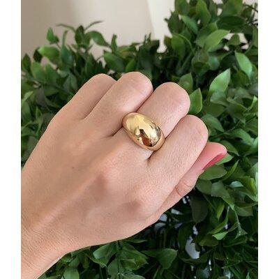 Anel tubo liso ouro
